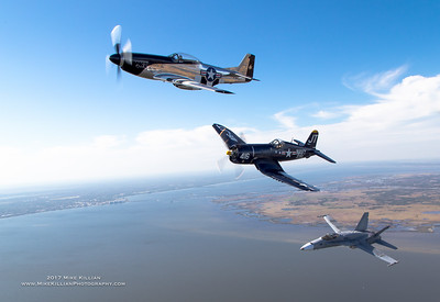 TAC DEMO Legacy Hornet Joins F4-U Corsair and P-51D Mustang