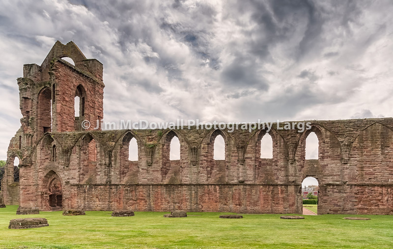 The Ancient Ruins of Arbroath Abbey Scotland.