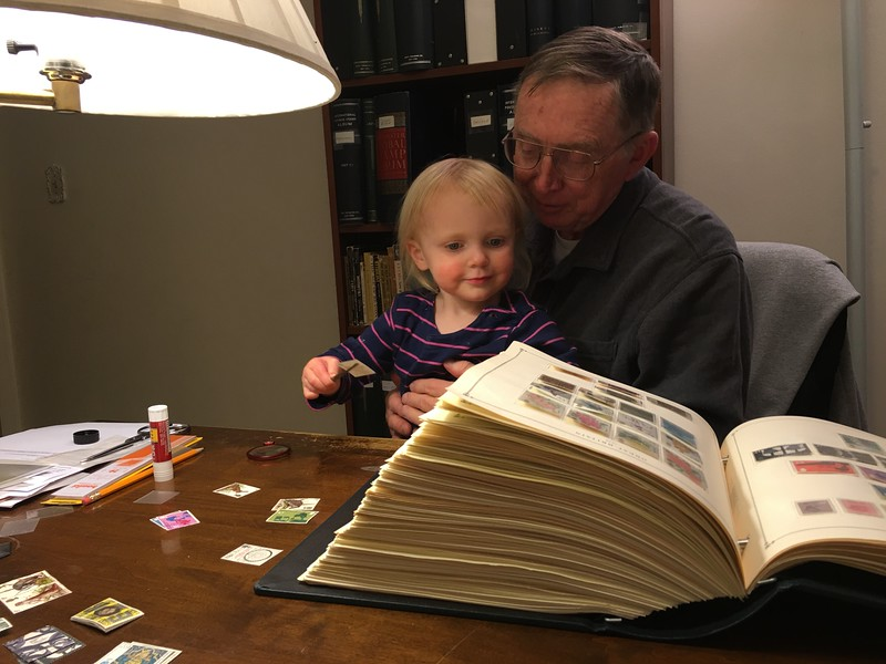 20160304 039 Kate helps Grandpa with stamps.JPG