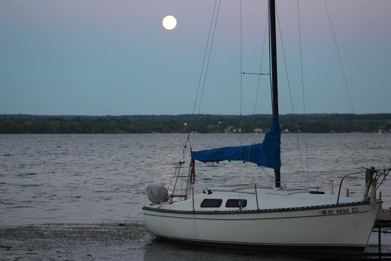 Full Moon Over Cayuga Lake