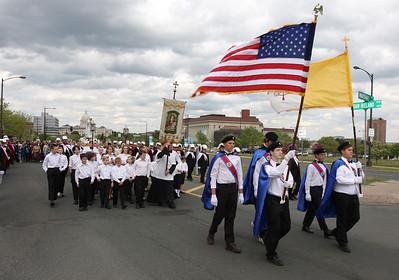 Rosary Procession - May, 2010