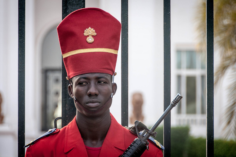 Guard at the Presidential Palace in Dakar, Senegal