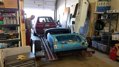 2017-03-11 Trying to start TR3 at Jims shop