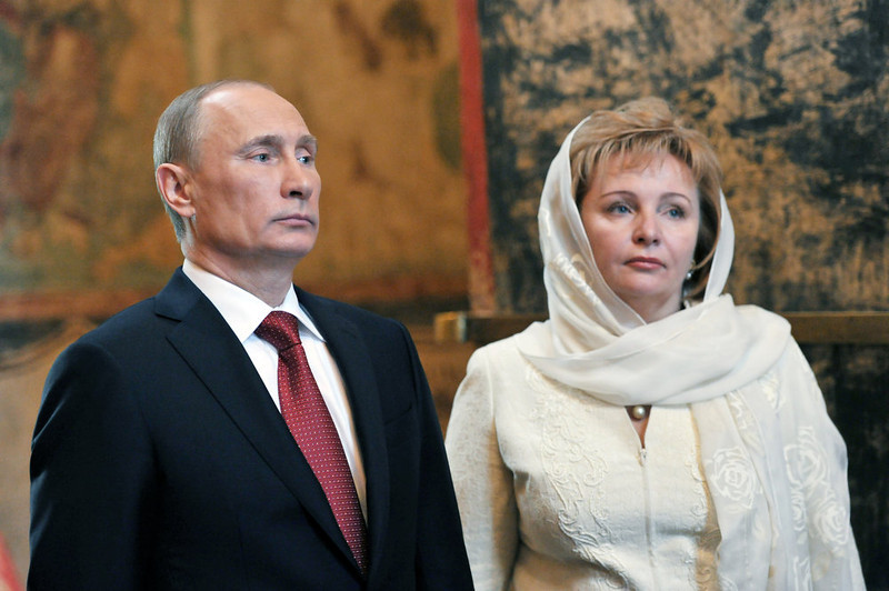 . Russia\'s President Vladimir Putin and his wife Lyudmila attending a service at Blagoveshchensky (the Annunciation) cathedral  in Moscow�s Kremlin on on May 7, 2012.  Putin and his wife Lyudmila have said their marriage is over.The couple, who have been married for 30 years, made their divorce public on Russian state television on June 6, 2013. ALEXEI NIKOLSKY/AFP/Getty Images