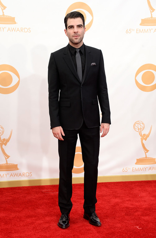 . Actor Zachary Quinto arrives at the 65th Annual Primetime Emmy Awards held at Nokia Theatre L.A. Live on September 22, 2013 in Los Angeles, California.  (Photo by Frazer Harrison/Getty Images)