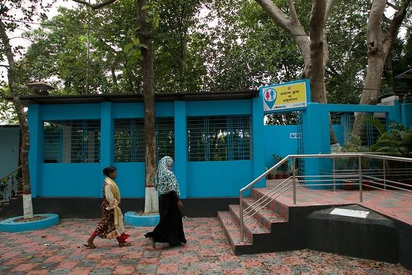 WASH block and 'Oju khana' - Public WASH corner for host community