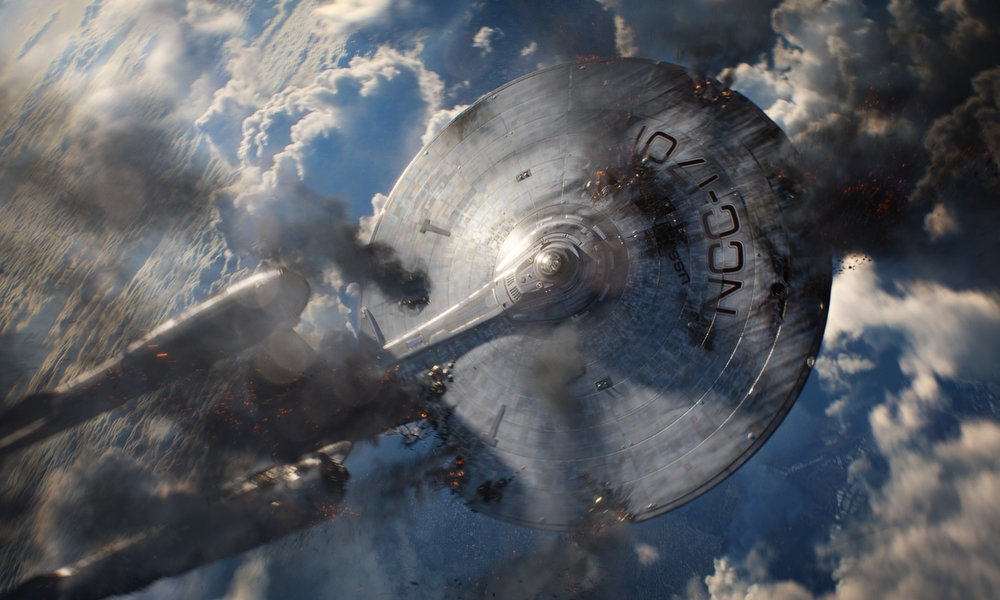 . The Enterprise in STAR TREK INTO DARKNESS, from Paramount Pictures and Skydance Productions. (Photo by Industrial Light & Magic, courtesy of Paramount Pictures)