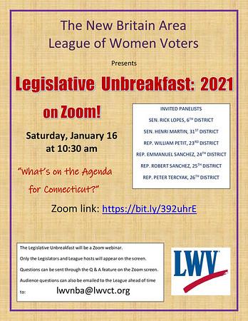 Legislative Unbreakfast Flyer
