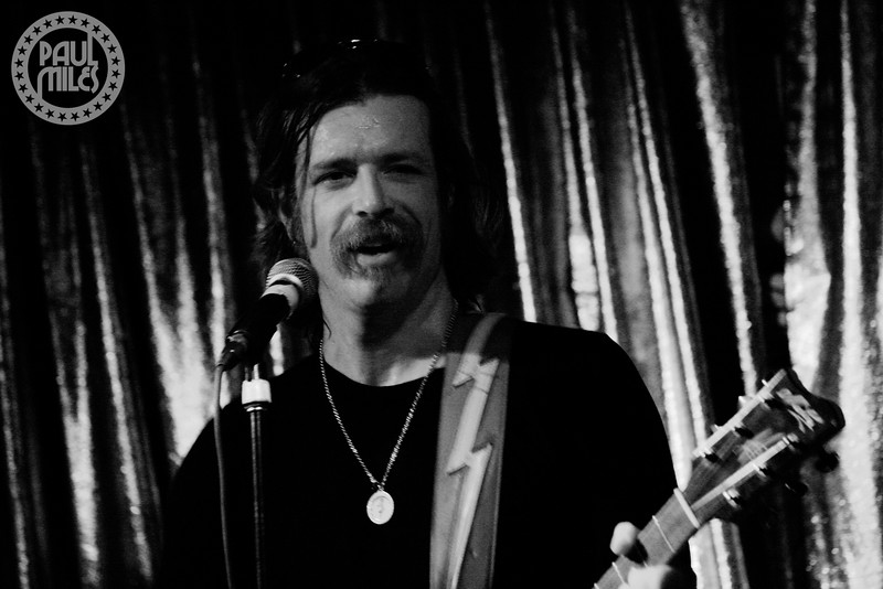Jesse Hughes having a blast at Cherry bar, ACDC Lane, Melbourne, Australia.
