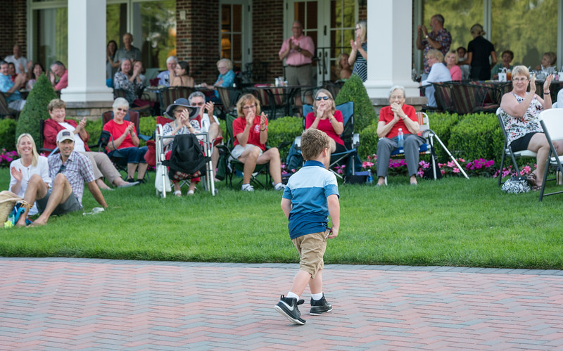 This youngster followed right behind David, then performed his own routine -- no baton needed