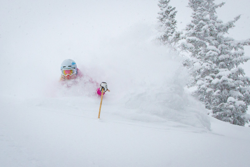 Claire Abbe, Opening Day of 9990 Lift, Canyons Resort