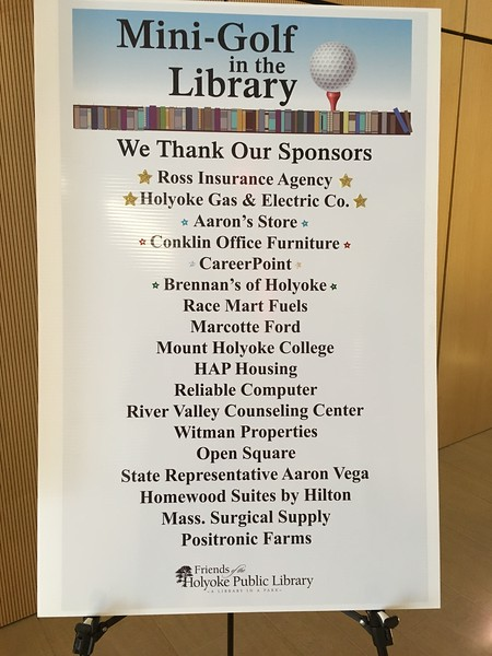 These sponsors made the event possible, and helped the Friends of the Library raise almost $5K.