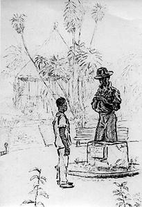 DUNDO, Estatuaria. Botanista John Gossweiler  (Desenho do Dr. Luna de Carvalho)