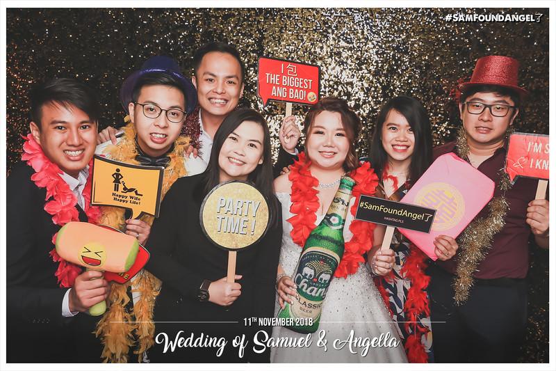 Wedding of Samuel & Angella   © www.SRSLYPhotobooth.sg