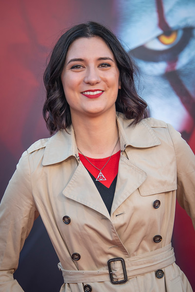 """WESTWOOD, CA - AUGUST 26: Anna Brisbin attends the Premiere Of Warner Bros. Pictures' """"It Chapter Two"""" at Regency Village Theatre on Monday, August 26, 2019 in Westwood, California. (Photo by Tom Sorensen/Moovieboy Pictures)"""