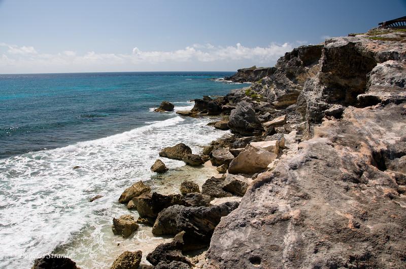 Craggy cliffs at Punta Sur