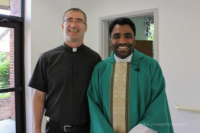 Fr. Tomysac celebrates mass 7-7-13