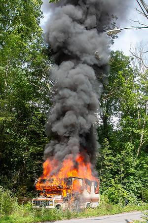 Camper Fire Leicester St, Auburn, MA- 7/14/2020