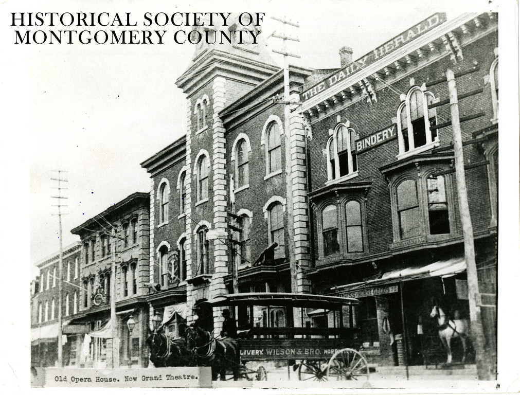 . This undated photo from the Historical Society of Montgomery County shows the Opera House which later became the Grand Theatre, once located between Swede and DeKalb streets on Main Street in Norristown. It was knocked down May 18, 1976 and is now a public parking lot.