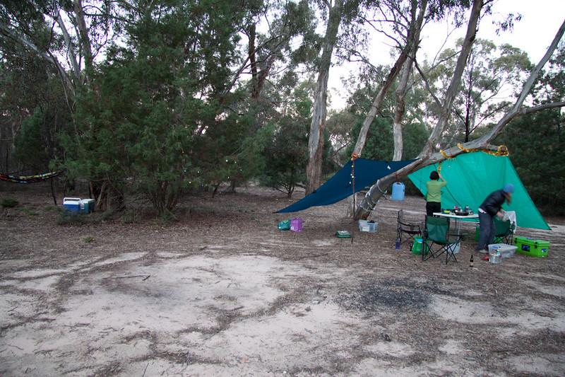 Camp decorating