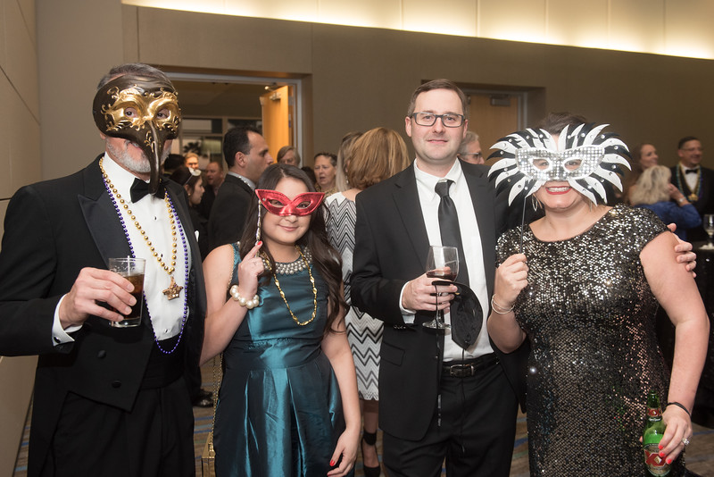 Mike Rendon (left) Stephanie Diores, Daryl and Christie Roberts. Saturday February 25, 2017 at TAMU-CC during the annual President's Mardi Gras Ball.