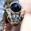 4.50ctw Sapphire and Diamond Serpent Bangle 8