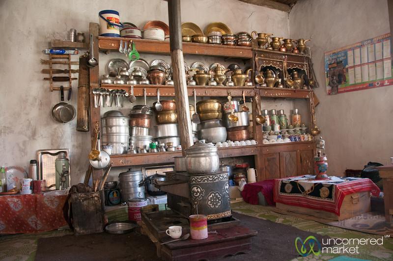 Ladakhi Kitchen and Living Room - Hankar, Markha Valley Trek