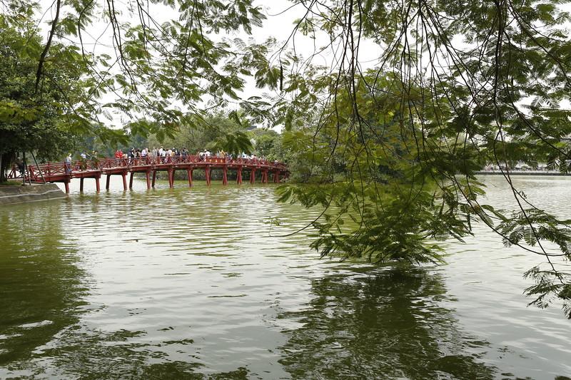 Hoàn Kiếm Lake near the center of Hanoi - across from Silk Road Boutique