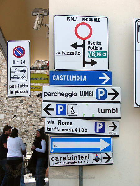 Taormina -  Street Signs