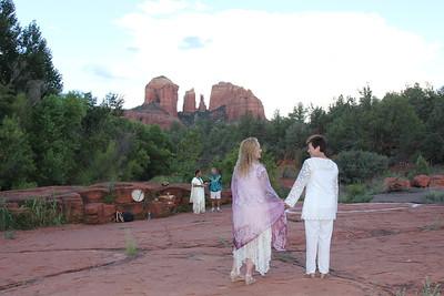 Red Rock Crossing Native Wedding Ceremony