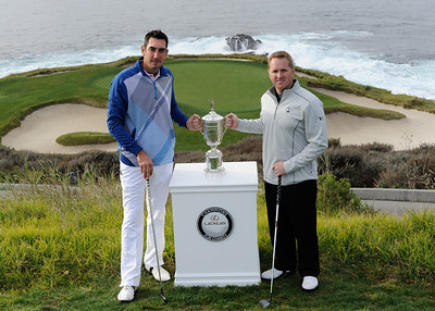Saturday Twosomes with US Open Trophy