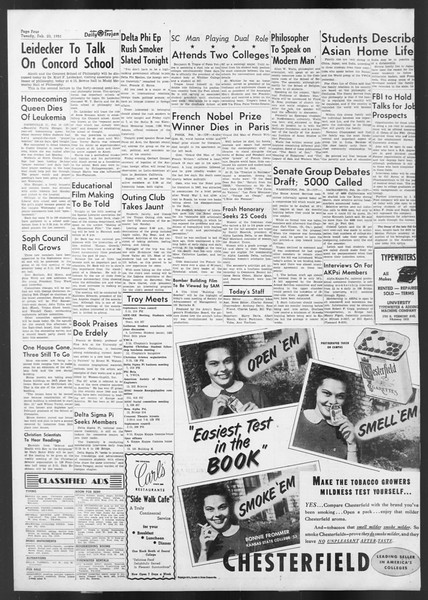 Daily Trojan, Vol. 42, No. 75, February 20, 1951
