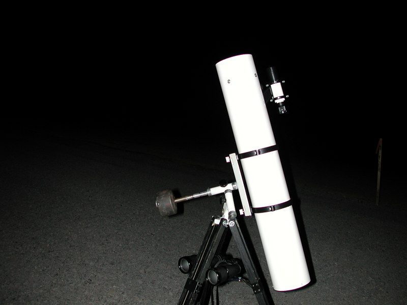 Under the dark skies of remote West Virginia, I took this image on my 4.3 inch Russian Reflector on an old re-painted Edmund Scientific Co mount. I was able to drive a short distance from my hotel and find a suitable observing sight with a good view of the heavens. I was in a field being subdivided for residential homes. No homes yet and no lights!