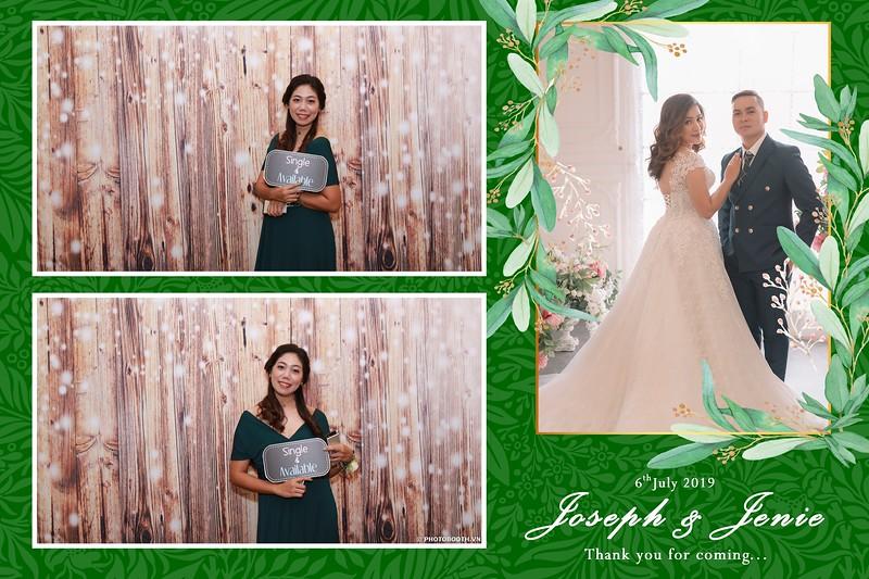 Joseph & Jenie Wedding @ EdenStar Saigon Hotel - instant print photobooth for wedding - in hình lấy liền Tiệc cưới - Photobooth Saigon