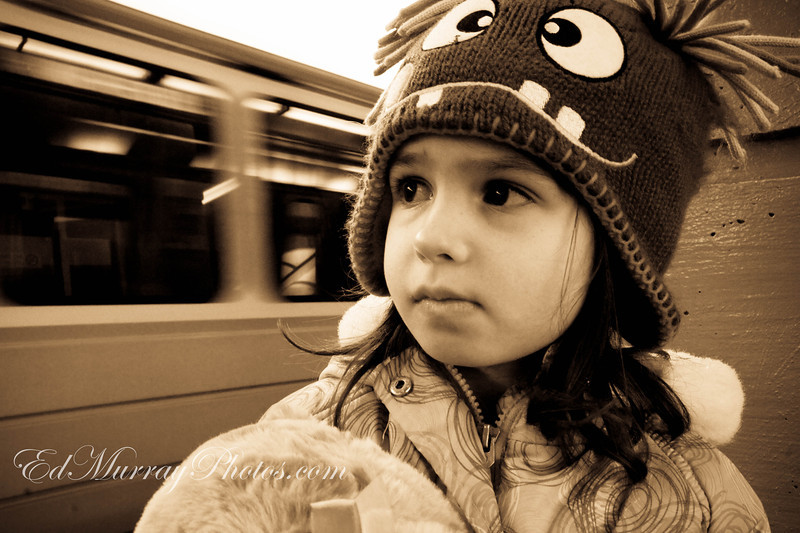 Apprehension: She started to second guess her decision to take a train ride into Boston