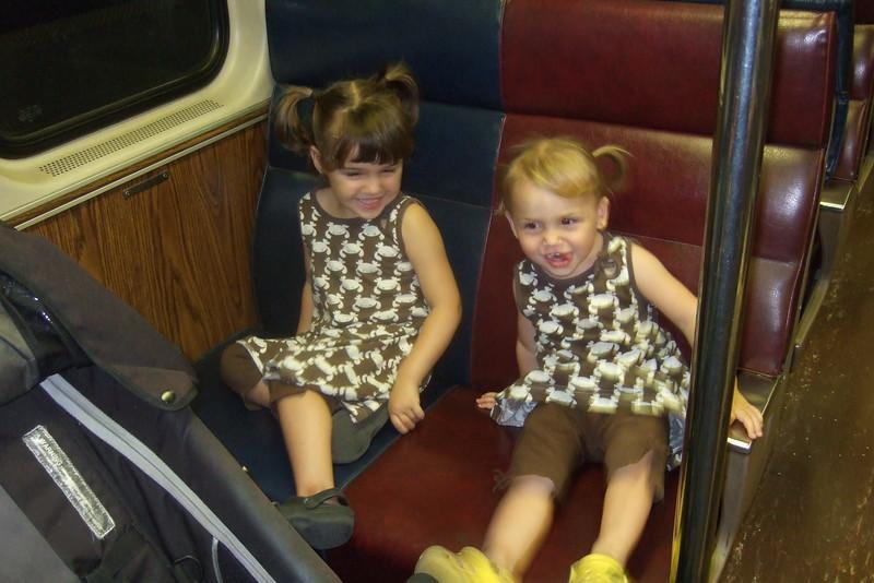 On the purple train!