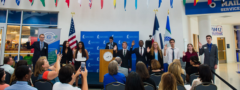 New members of the A&M-Corpus Christi Student Government Association were sworn in to office during the recent Swearing-In Ceremony.