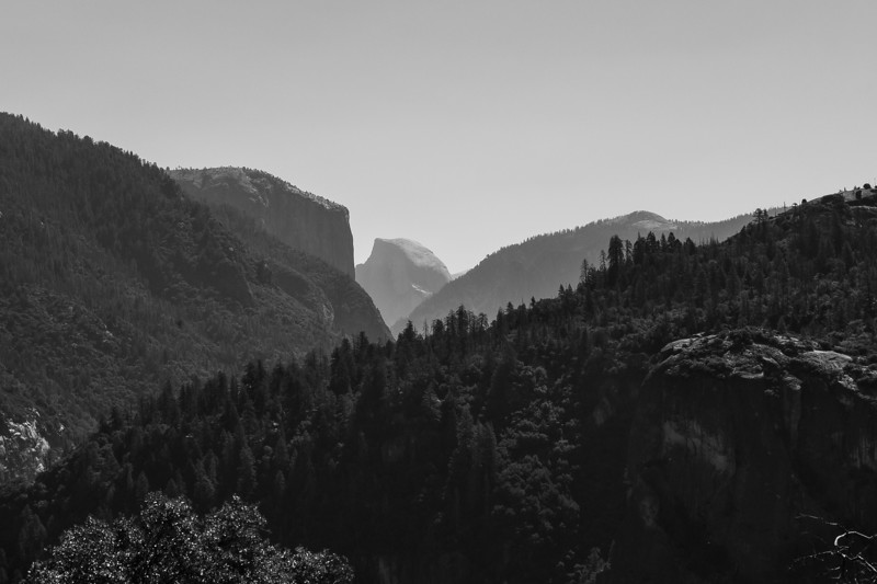 The classic view of Half Dome