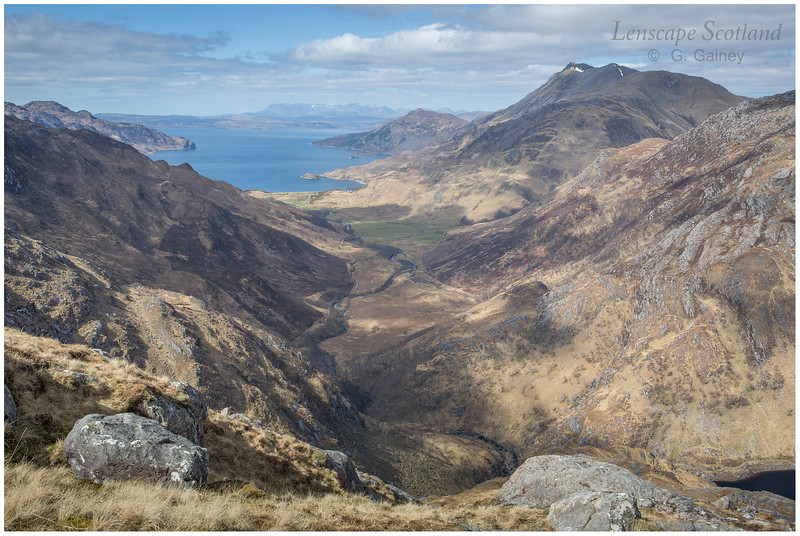 Glen Arnisdale, Beinn Sgritheall and the Cuillins of Skye