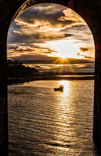 Montose Basin Sunset through the Viaduct