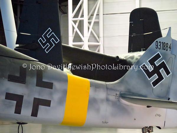 USA, Virginia, Chantilly. Nazi era warplanes, Steven F. Udvar-Hazy Center (National Air & Space Museum) (9.2015)