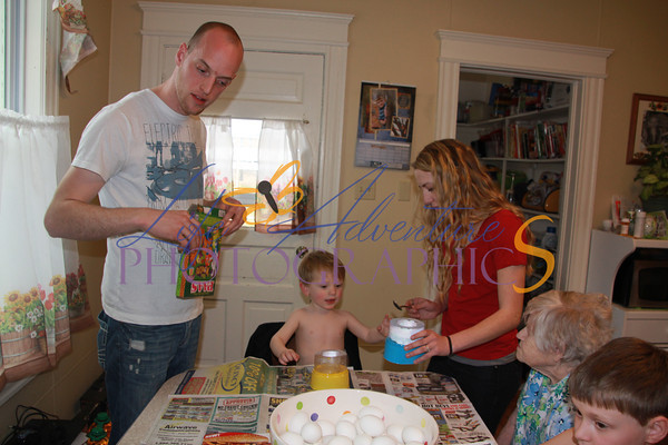 March 30: Coloring Easter Eggs
