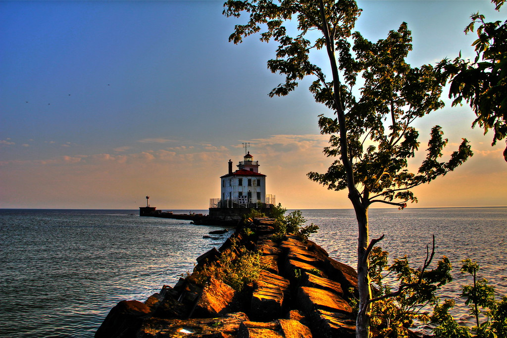 HDR of Fairport Harbor Lighthouse