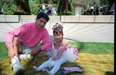 Tiffany and Uncle Dave at Picnic