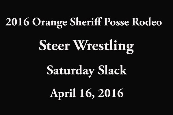 Saturday Slack 'Steer Wresting'