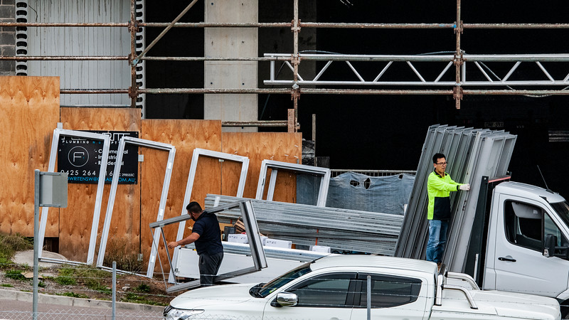 Building progress 140d. At 47 Beane St. Gosford. October 2018.