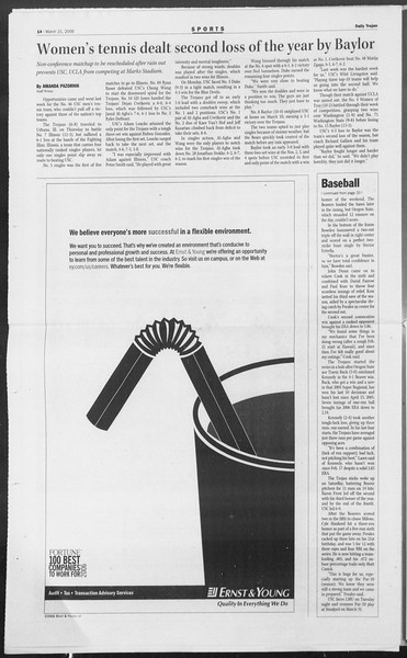 Daily Trojan, Vol. 157, No. 40, March 21, 2006