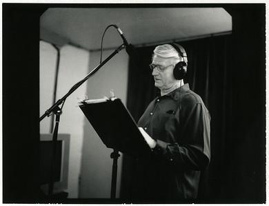 Ivan Stuart recording audio book at Terra Vista Media