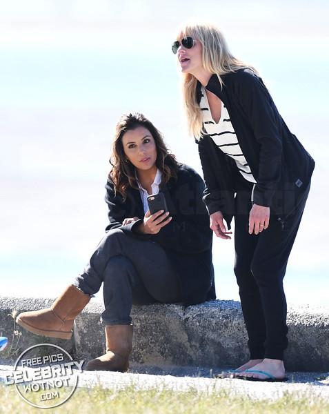 Eva Longoria Shows Off Bikini Top Filming Overboard With Anna Faris &  Eugenio Derbez!