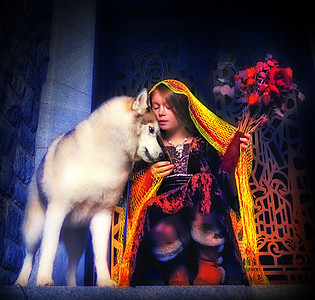 Trinity, Julie, Fred and Genesis and Taraka (Siberian Husky)  Professional Model Photography